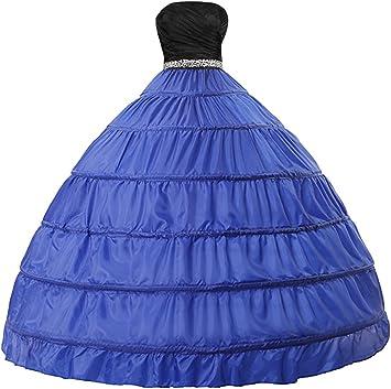 Petticoat Crinolina Sottoveste per Vestito Abito da Sposa 2 Strati Edith qi Sottogonna Petticoats trascinamento 6 Cerchio Multicolore