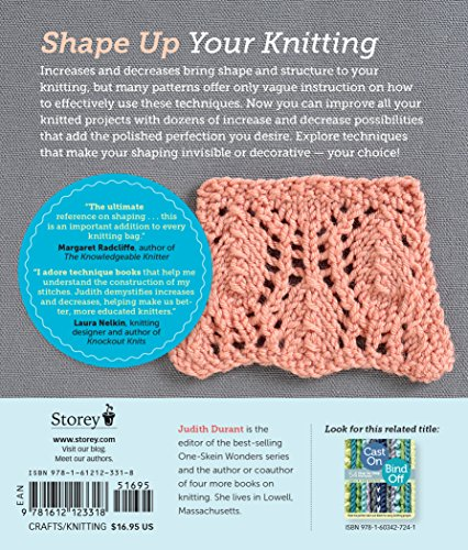 Increase, Decrease: 99 Step-by-Step Methods; Find the Perfect Technique for Shaping Every Knitting Project by Storey Books (Image #1)