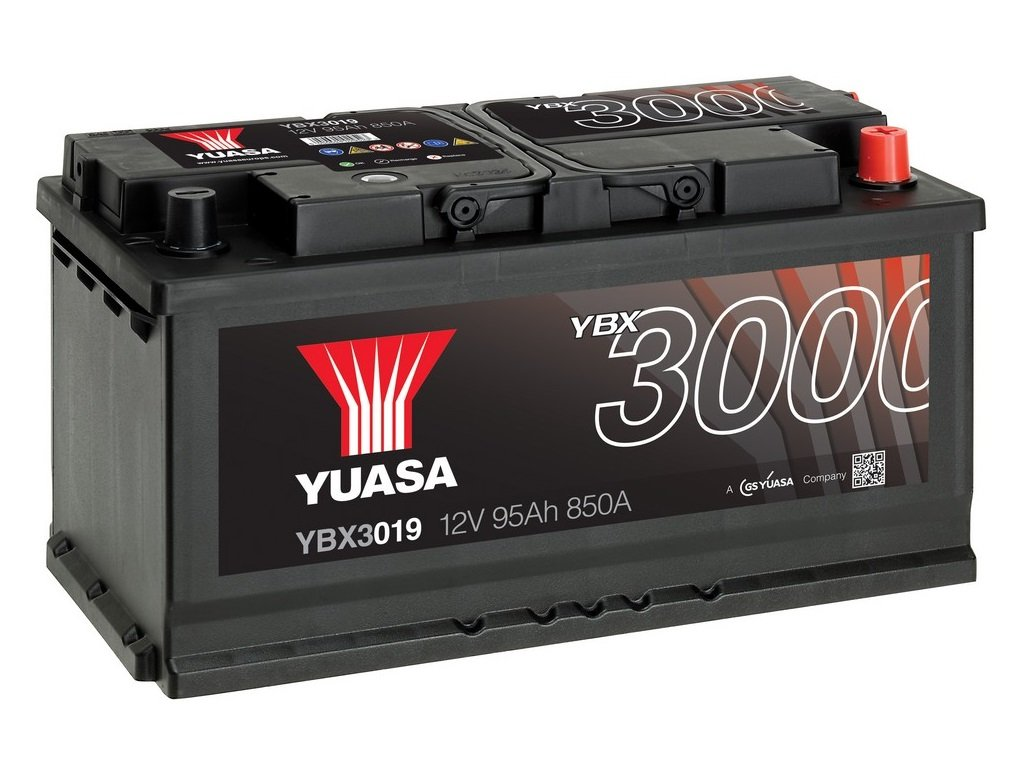 Yuasa YBX3019 Baterí a de coche SMF Starter recargable 95 AH+DCHA GS Yuasa