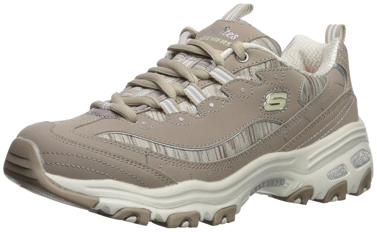 Taupe-578 Skechers Women's D'Lites - Interlude Sneakers