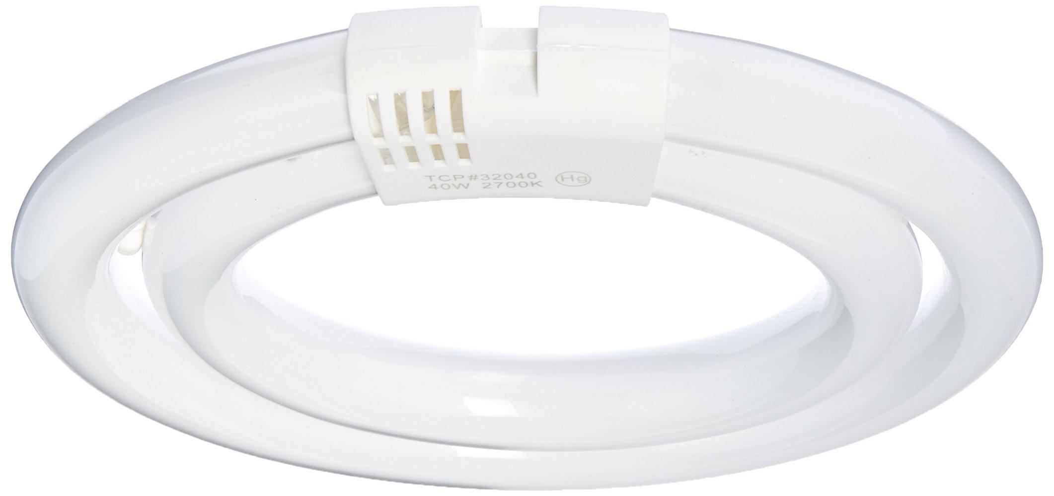 (Case of 10) TCP 32040 40-Watt 2700K Double T6 Circline Lamp, 150W Equivalent