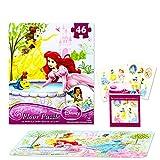 Disney Princess Giant Floor Puzzle for Kids (3 Foot Puzzle, 46 Pieces-- Bonus Disney Princess Stickers)