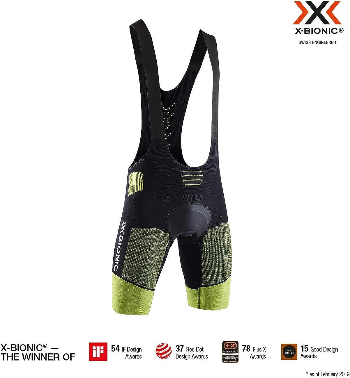 X-Bionic Mens Effektor 4.0 Bike Padded Bib Shorts