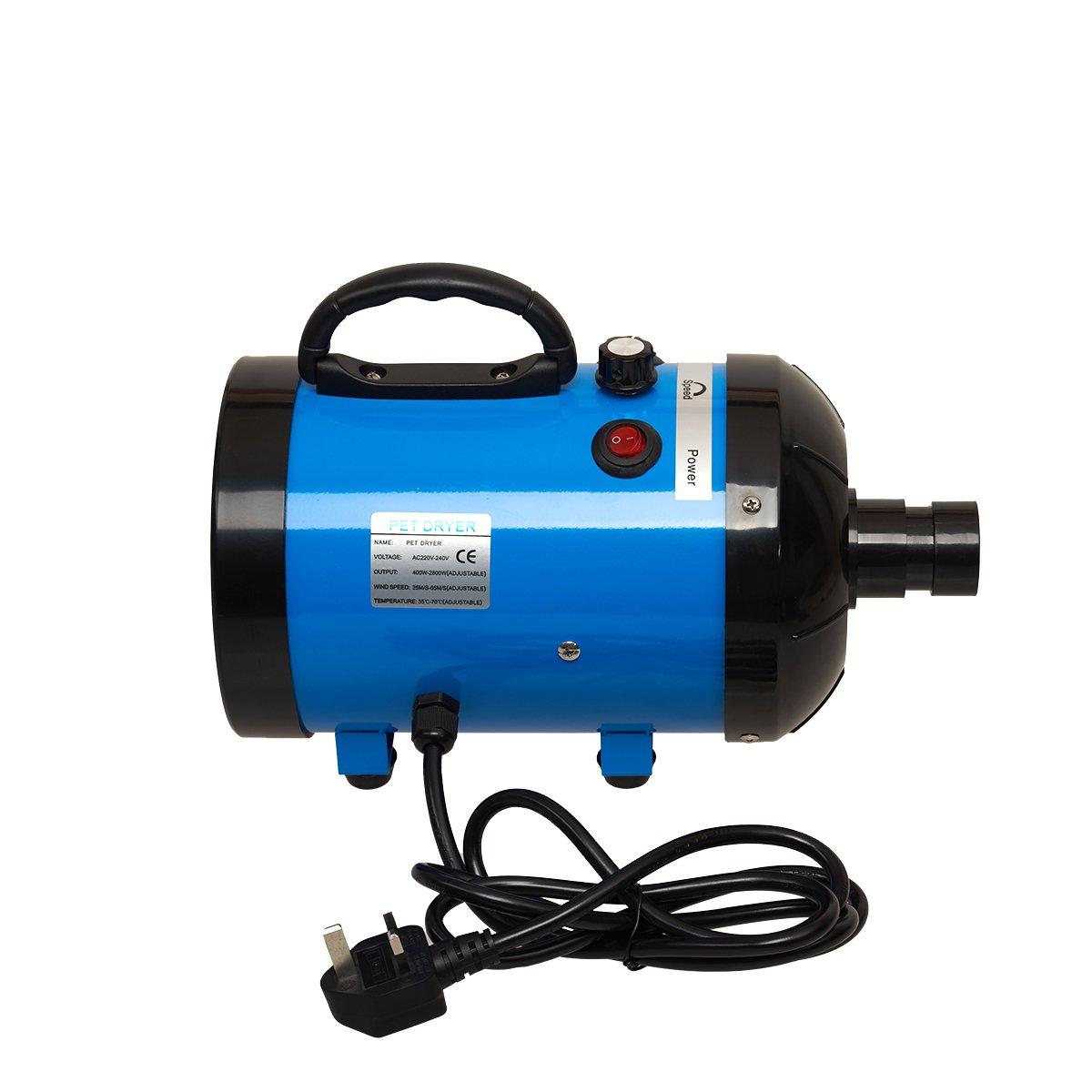 bluee Panana Low Noise 2800W Pet Dog Cat Grooming Hair Dryer Hairdryer Blaster Blower (Purple)