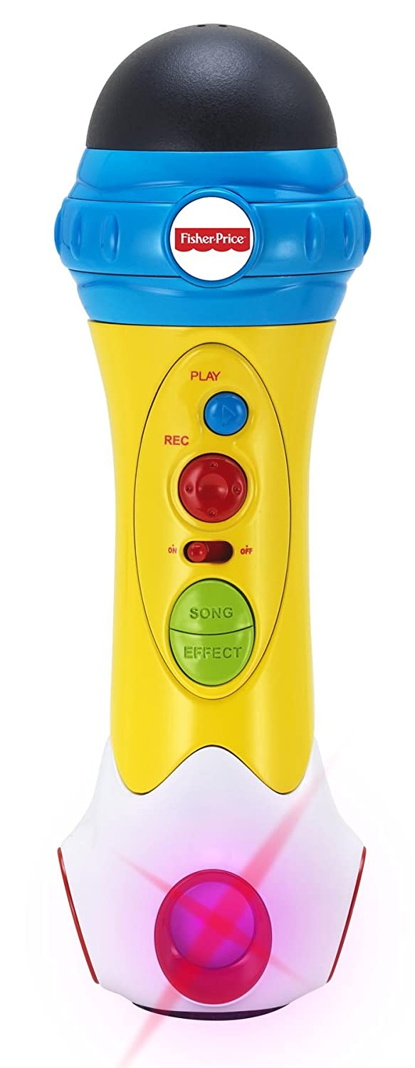 Fisher Price Music - Microphone/Karaoke - Music Rappin' Recording Microphone - Sing, Record & Playback - Designed for Kids Kid Station KFP1739