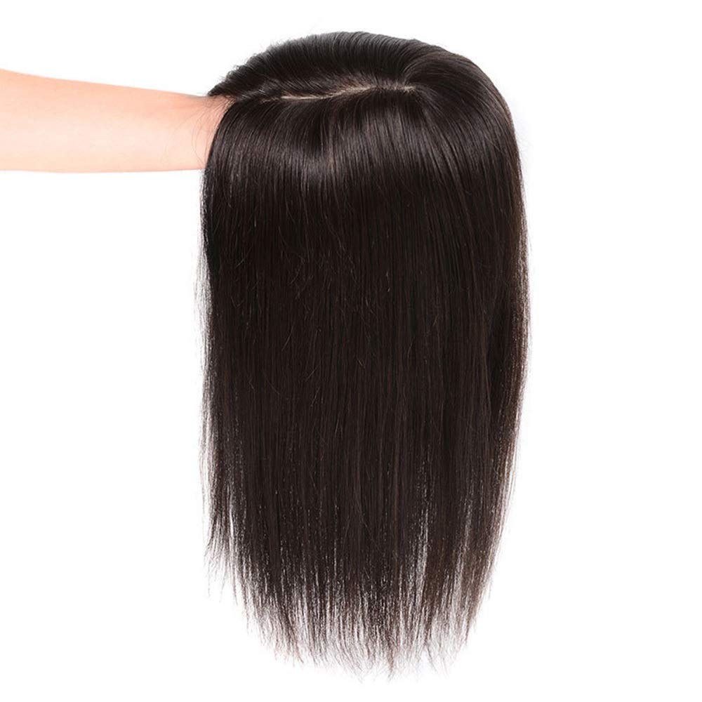 HOHYLLYA 女性のための3Dハンドニードルリアルヘアウィッグナチュラルヘアエクステンションホワイトヘアパーティーウィッグ (色 : Natural black, サイズ : [9x14]30cm) B07QWXP7Y3 Natural black [9x14]30cm