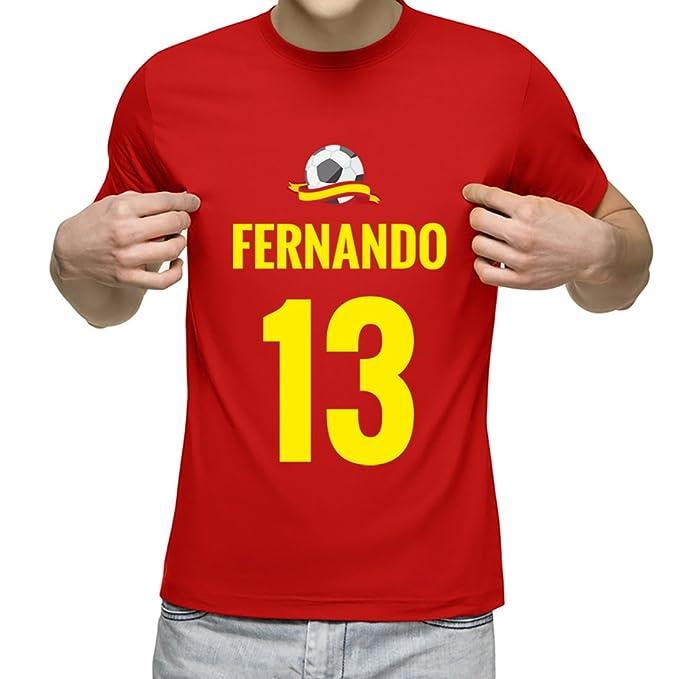 Camiseta Personalizada con Nombre y Número para animar a la Selección (Rojo)