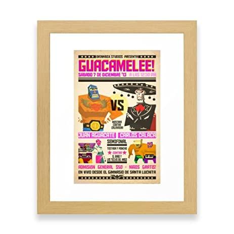 Society6 Guacamelee! Fight Poster Framed Print Conservation Natural MINI
