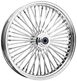 Ride Wright Wheels Inc Omega Chrome 50 Spoke 21x3.5 Front Wheel (Dual Disc), Color: Chrome, Position: Front, Rim Size: 21 04235-845-OM-ABS-T