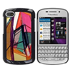 Estuche Cubierta Shell Smartphone estuche protector duro para el teléfono móvil Caso BlackBerry Q10 / CECELL Phone case / / Art Bright Colors Geometry /