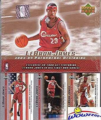 2003 Upper Deck Lebron James 21 Card Phenomenal Beginning