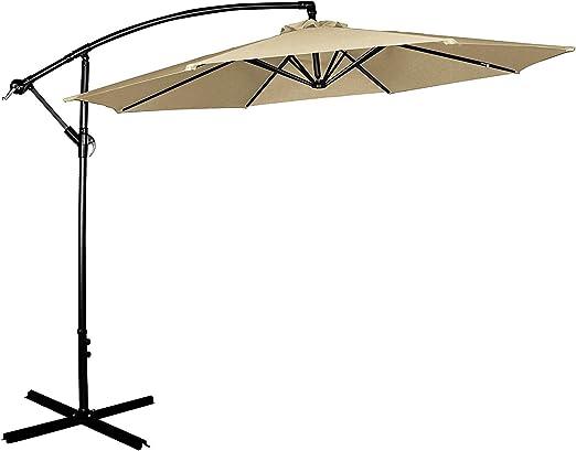 Cloud Mountain - Parasol de poliéster de 2, 7-3 m, resistente a ...