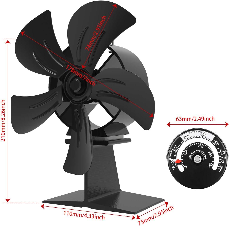 Ventilateur de po/êle /à chaleur pour petit espace sur une b/ûche//po/êle /à bois//po/êle//chemin/ée Nouveau ventilateur sp/écialement con/çu foyer simple A +++