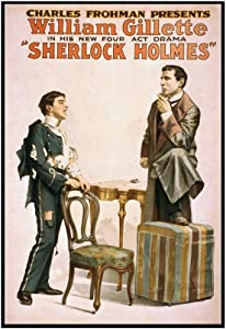 Sherlock Holmes Theatrical Play Poster #3 (23 3/8x36 Framed Gallery Wrapped Stretched Canvas)