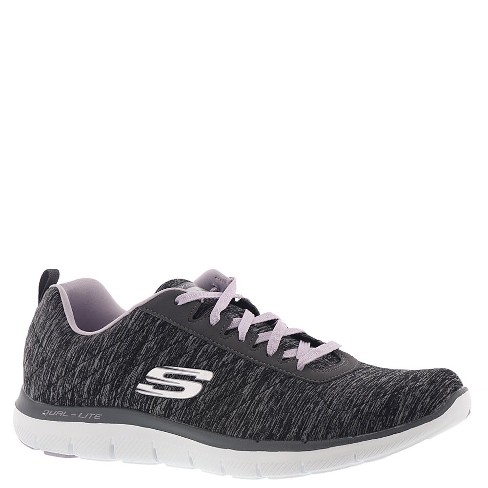 Skechers Damen Flex Appeal 2.0 Sneakers  41 EU|Schwarz (Black/Lavender Bklv)