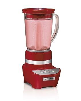 Hamilton Beach Wave Maker Batidora de vaso 1.4L 700W Rojo - Licuadora (Batidora de vaso, Rojo, 1,4 L, 700 W): Amazon.es: Hogar