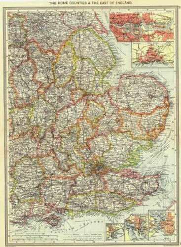 Map Of England Portsmouth.Amazon Com England East London Docks Hull Dover Southampton