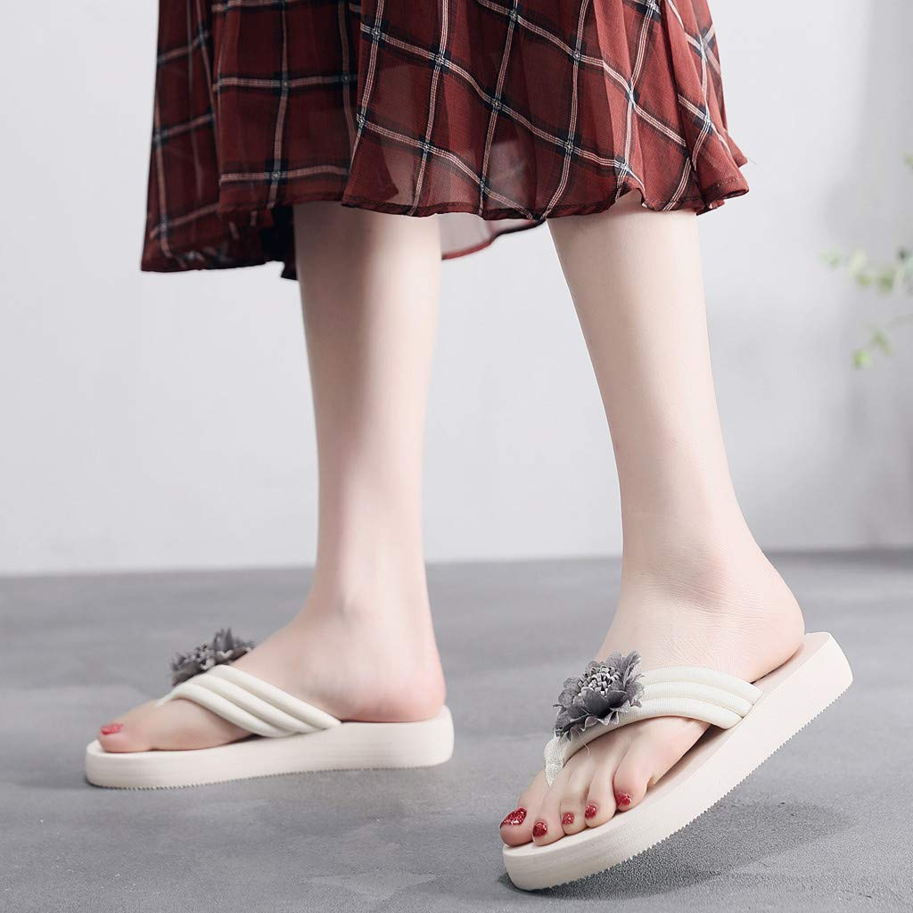 Womens Fashion Casual Outdoor All-Purpose Slippers TANGSen Hermitage Sunflower-Cake Summer Slippers Beach Shoes