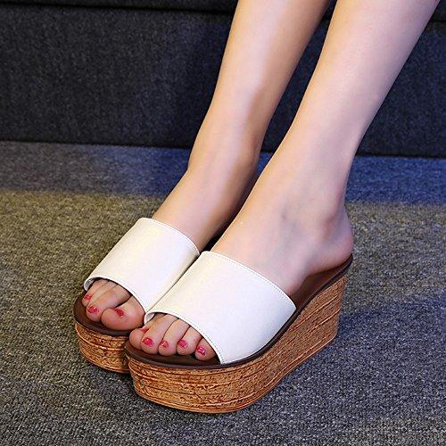 été femmes EU40 pantalons épais Femmes hauts 8cm couleurs 4 4 HAIZHEN de taille Sandales en Pour UK7 avec chaussures pour CN41 3 sortes en bas femmes Couleur qHqXw8