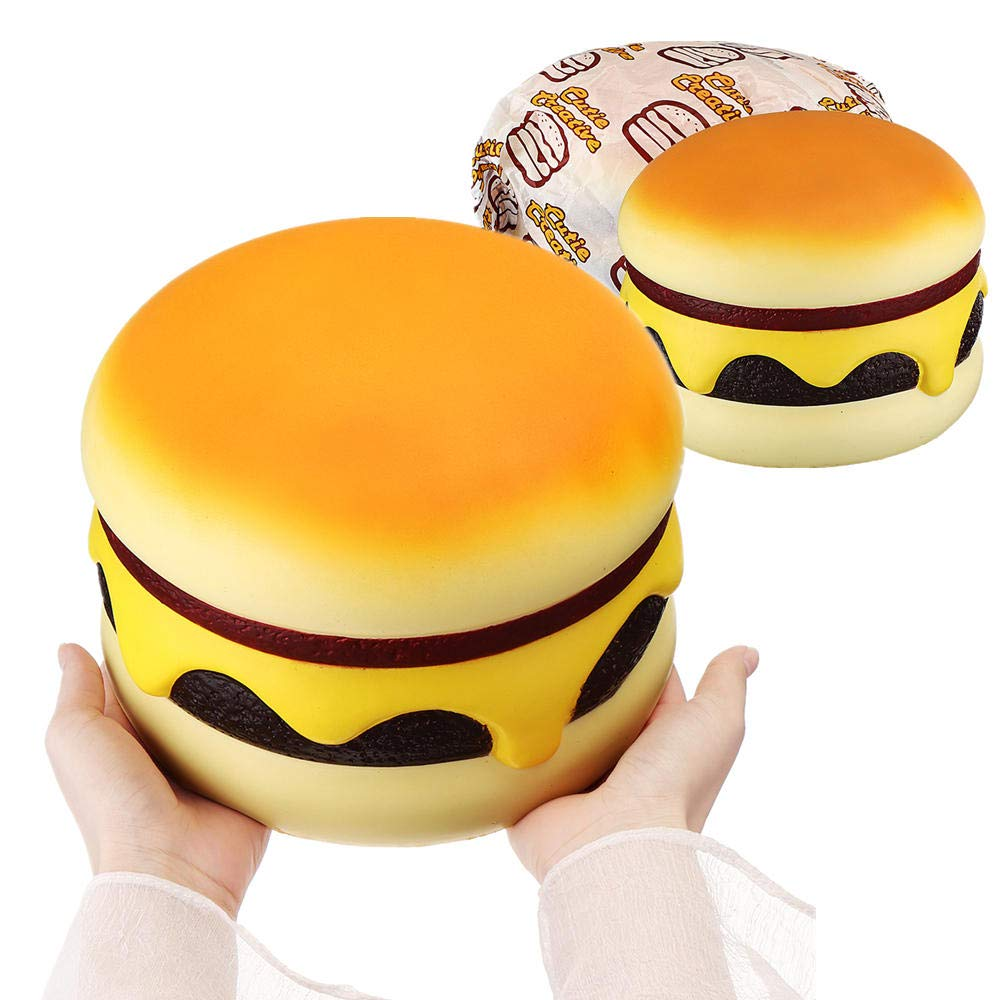 Cutie Creative Squishy Cheese Beef Burger Humongous Giant Hamburger 22CM Bread Jumbo Gift Soft Toys by Unknown