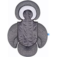 COOLBEBE New 2-in-1 Head & Body Supports for Baby Newborn Infants - Extra Soft Stroller Cushion Pads Car Seat Insert…