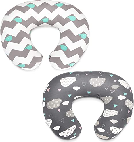 Dot Starwak Nursing Pillow Cover Breastfeeding Pillow Slipcover Floral Cotton Blend Soft Snug Fit Stretchy Fitted Positioners Covers for Nursing Mom/'s Unisex Infants Boys Girls