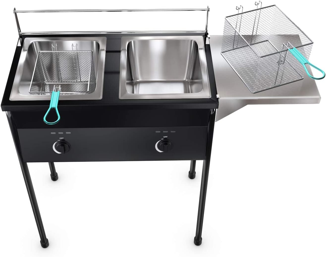 Amazon Promo Code for taco cart Outdoor Two Tank Deep Fryer