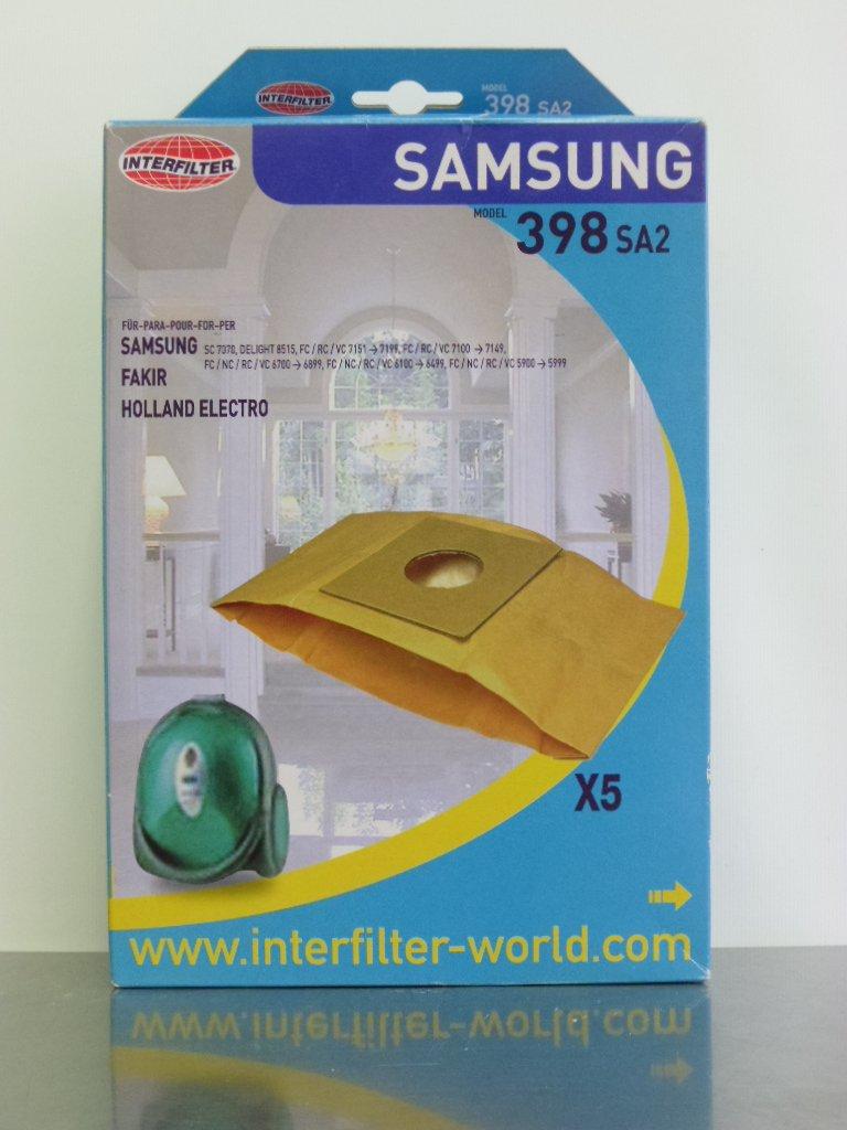 Interfilter 398–5sacchetti sua 2per SAMSUNG SC 7070, Delight 8515, FC/RC/VC 7151.