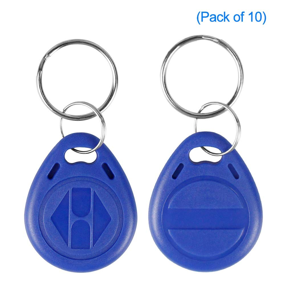 Paquete de 10 LIBO Escribir RFID Llaveros 125KHz T5577 NFC Token Proximity ID Clave de Control de Acceso Tarjeta de ID Fob Tarjeta Programable Azul