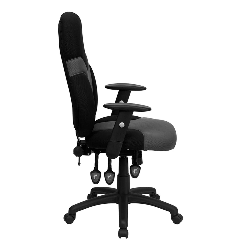 Amazon Flash Furniture High Back Ergonomic Black and Gray