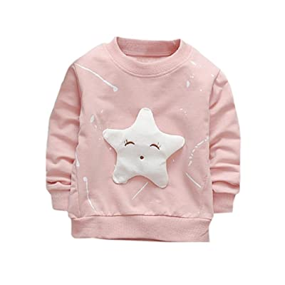 Anxinke Unisex Baby Clothes Cute Star Cotton Long Sleeve T Shirt Tops