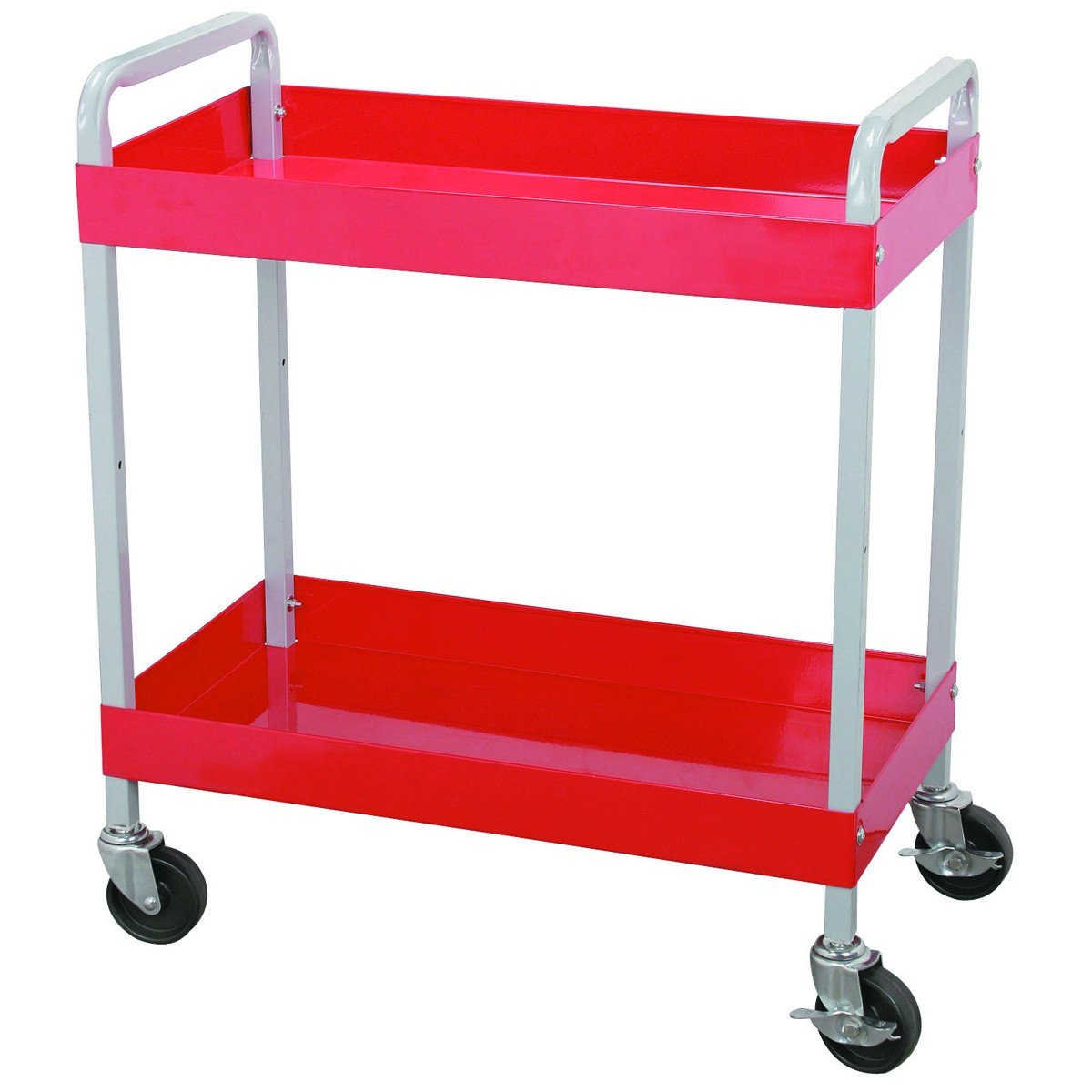 Maxworks 40104 Two-Tray Service Cart, 30-Inch Long by 16-Inch Wide, 250-Pound Capacity