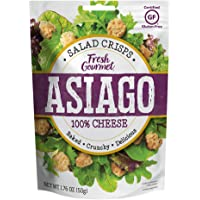 Fresh Gourmet Cheese Crisps, Asiago, Great for Snacking or As A Salad Topper