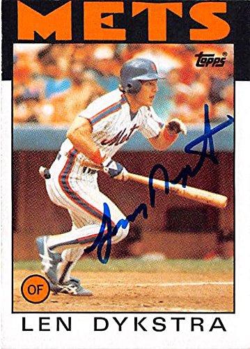 Autograph Warehouse 291595 Lenny Dykstra Autographed Baseball Card - New York Mets Nails 1986 Topps No. 53