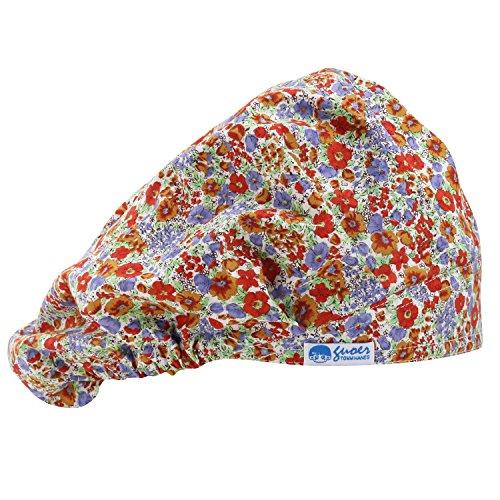 GUOER Scrub Hat Bouffant Scrub Cap One Size Multi Color (Color13)