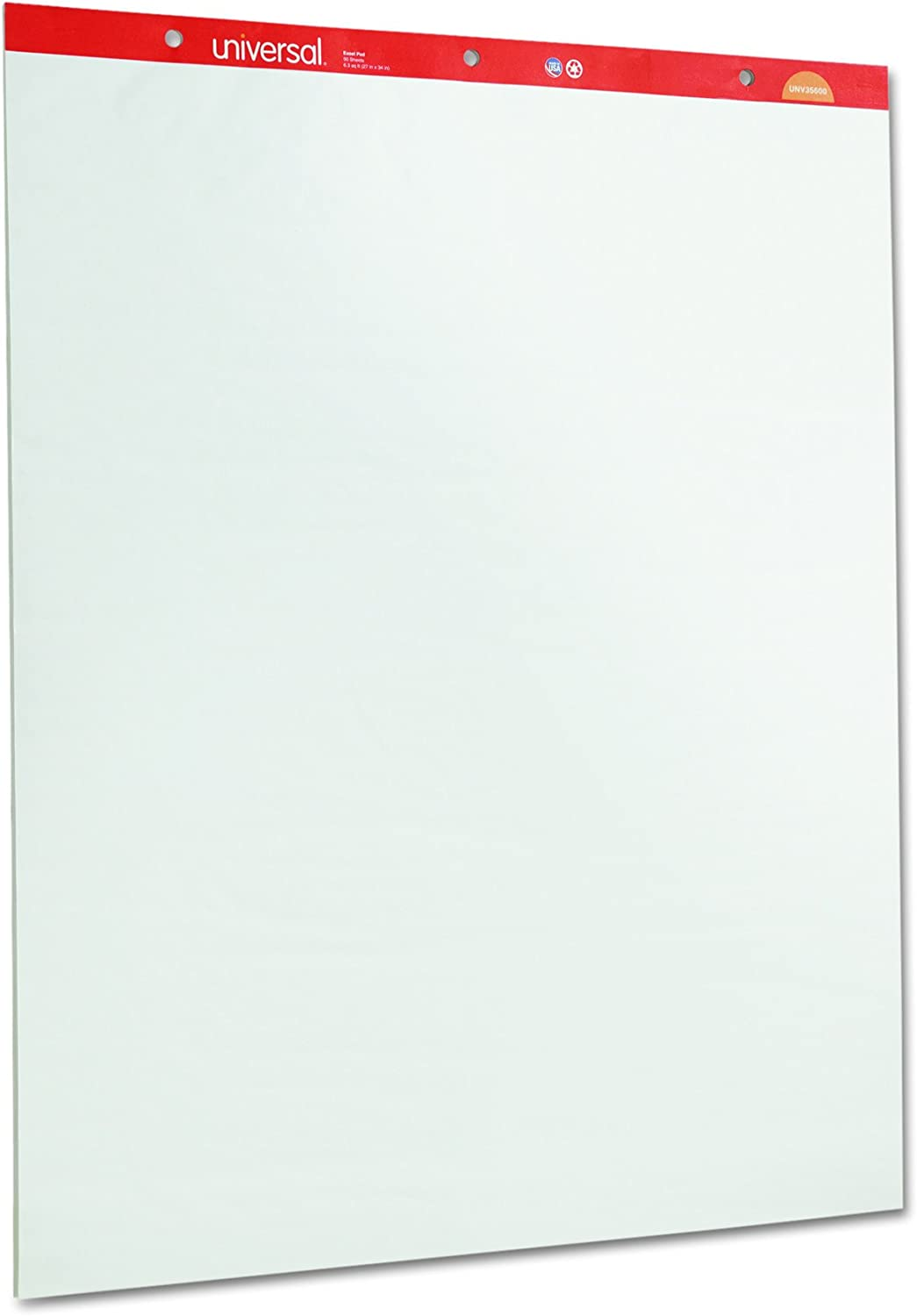 Universal 35600 Recycled Easel Pads, Unruled, 27 x 34, White, 50 Sheet (Case of 2) : Office Products