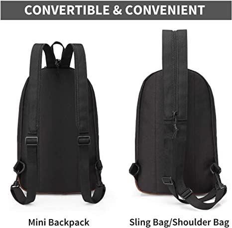 Details about  /Vaschy Backpack Two Ways to Carry Adjustable Crossbody Chest Small Backpack