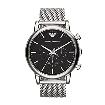 03513454ae80 Amazon.com  Emporio Armani Men s AR1808 Dress Silver Watch  Emporio ...