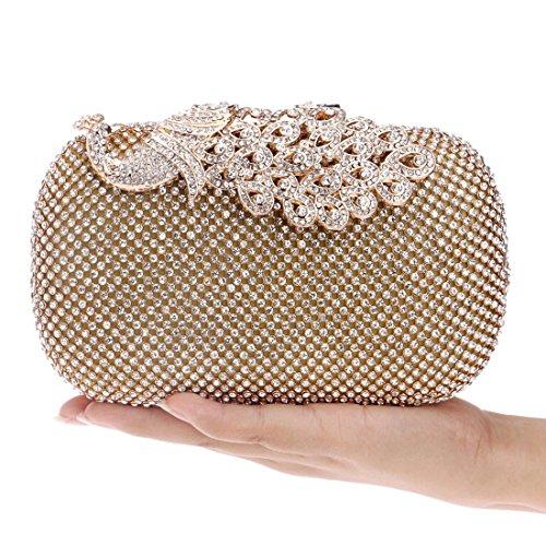 Peacock Bag Bag Purse Women Clutch Banquet Evening Ladies Diamond Gole JESSIEKERVIN Handbag qx0aFq