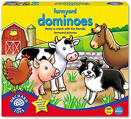Farmyard Dominoes Game Orchard Toys