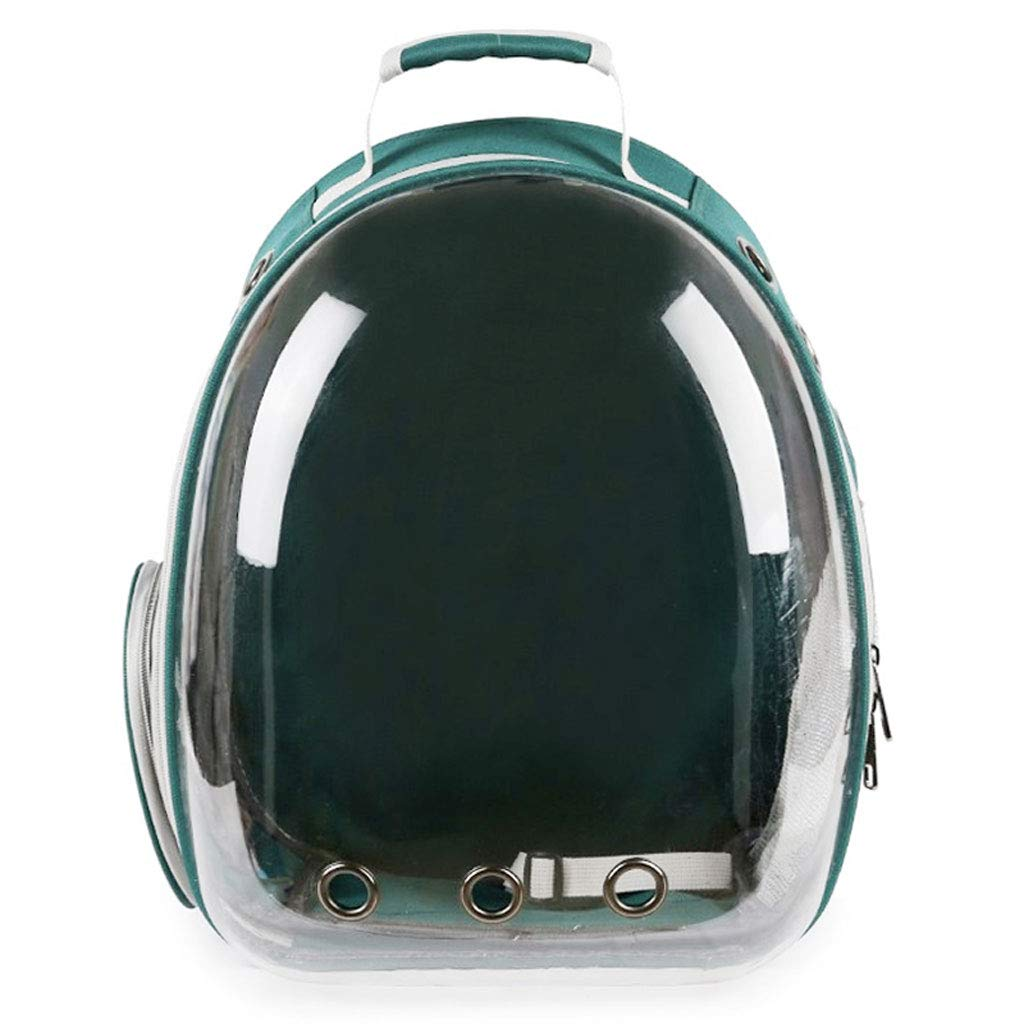 GREEN Maimai Space Full Transparent Cabin Backpack Pet Out Portable Breathable Dog Backpack (color   GREEN)