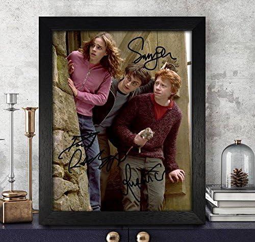 Rupert Grint [Ron Weasley], Emma Watson [Hermione Granger] & Daniel Radcliffe [Harry Potter] autografiado, firmado 8 x 10 Foto Reimpresión RP PP * * ...