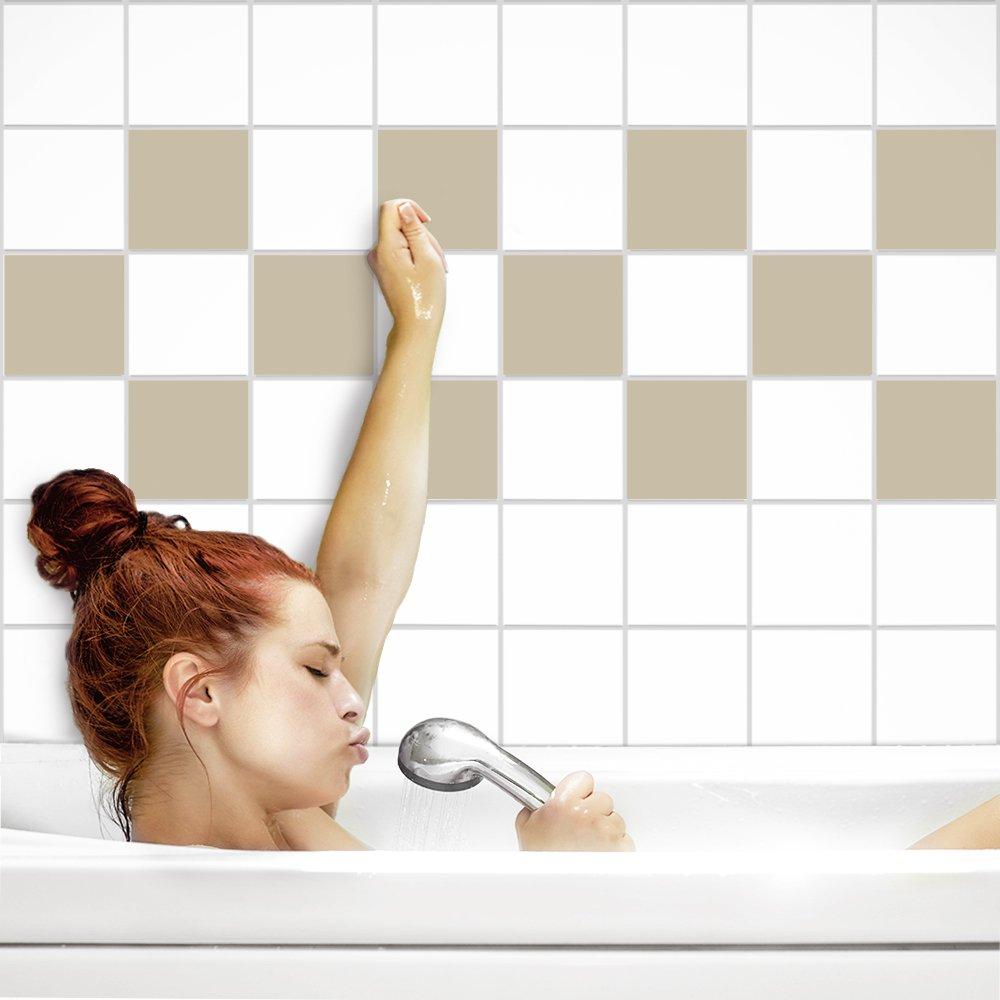 PrintYourHome Fliesenaufkleber für Küche Küche Küche und Bad   einfarbig weiß matt   Fliesenfolie für 20x20cm Fliesen   152 Stück   Klebefliesen günstig in 1A Qualität B071ZGM6HT Fliesenaufkleber ad8b90