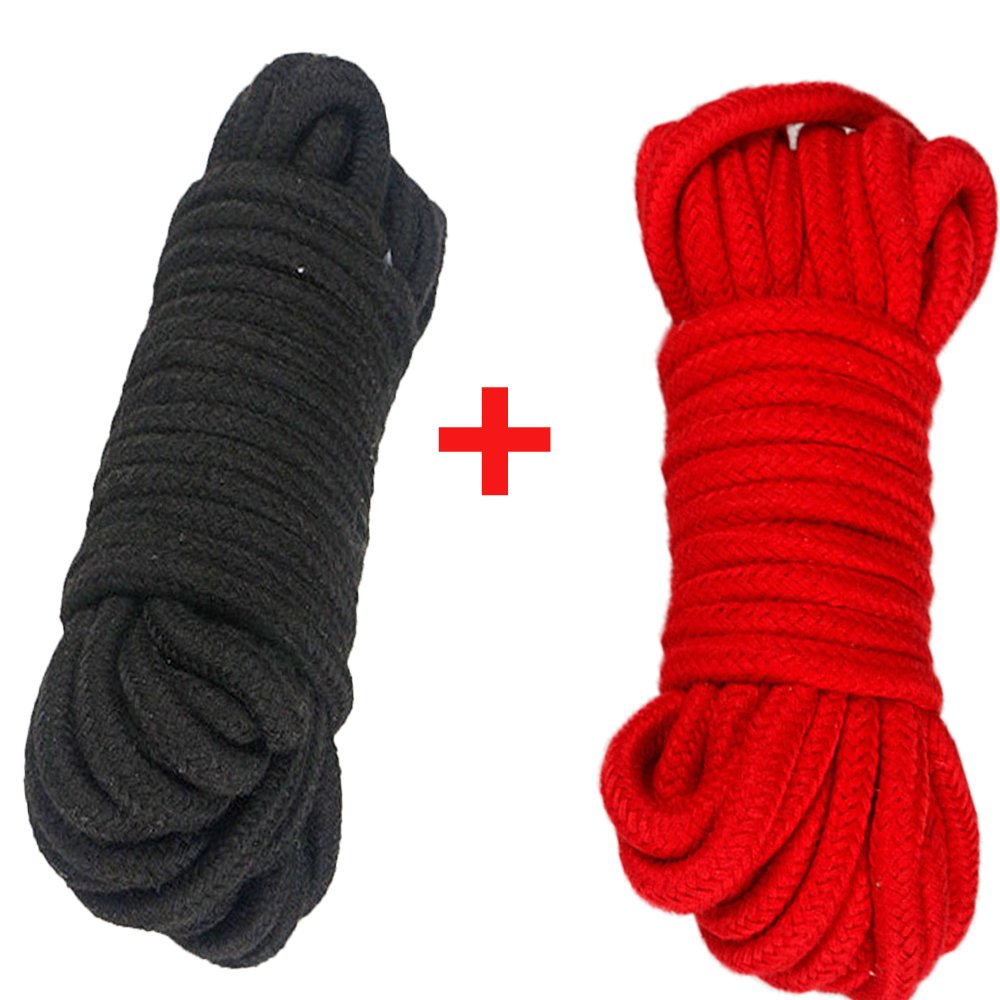 Long Soft Rope -32-Foot 10m,64-Foot 20m Soft Twisted Cotton Rope Utility Rope 10M, Black/_3pcs Pack of 2//3//4 Moonight FBA3852/_black/_3pcs 2//3//4pcs, 10M//20M