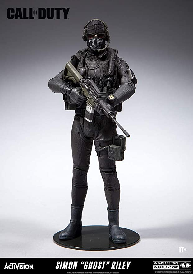 Gray Call of Duty Black Ops 4 GHOST Lieutenant Simon Riley Figure McFarlane New in Box Wear