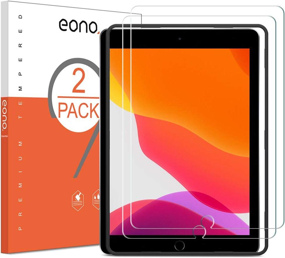 Eono by Amazon - [2 Piezas] Protector de Pantalla para iPad 10.2 (2019) y iPad Air/ iPad Pro, Cristal Templado, Sin despegamiento, Sin Burbujas, con Posicionador…
