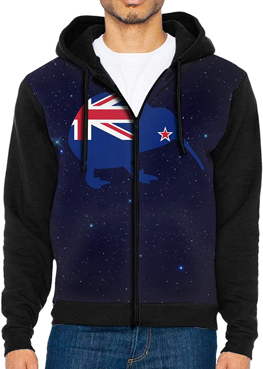B07MK12989 LD6DBGK New Zealand Flag Kiwi Men\'s Zip Front Hooded Sweatshirts Winterwear 61cCWr2BPcnL