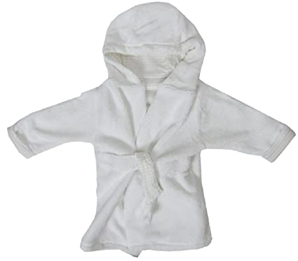 Rivers Trading Baby Girl Boy Children Dressing Gown White Fluffy ...