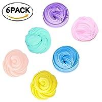 Fluffy Slime Coloré, Fumum Slime DIY Jouets de soulagement Non-toxique Jouet pour Enfants et Adultes(6 Pack)