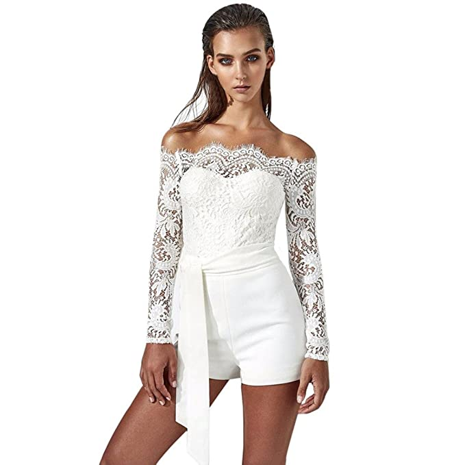 Amazon.com  Clearance! Lace Jumpsuits 7264efe08